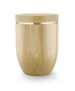 Wooden Urn (Flat Top in Natural Wood)