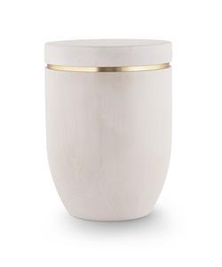 Wooden Urn (Flat Top in White Birch)