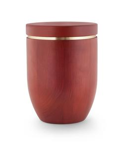 Wooden Urn (Flat Top in Mahogany)
