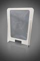 Sneeze screen with aperture - foam PVC