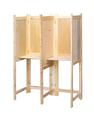 Double wooden voting screen