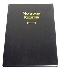 Mortuary Registers and Mortuary Fridge Registers - bespoke record books for mortuaries