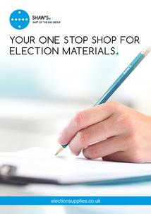 Brand new Election Equipment catalogue out now