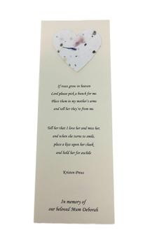 Client creates a beautiful tribute to their late Mother using Shaw's memorial stationery