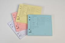 Catalogue code SP21. Shaw's new debit/credit pads, available in four colours.