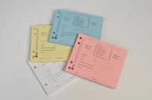 Catalogue code SP31. Shaw's traditional debit/credit pads, available in four colours.